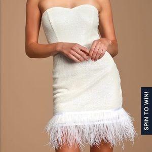 Brand new Lulus white sequin dress.